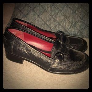 Tommy Hilfiger Black Leather Loafers 7.5
